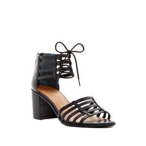 Franco Sarto Henrika Black Lace Up Sandals